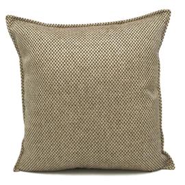 Esperanza Deseo ® kussen - Linnen meubelstof met grote lus - Brons met licht beige ± 45x45cm