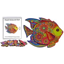Houten puzzel - mozaïek - vis