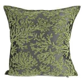 Olijf groen kussen - (Koraal) takken ± 45x45cm