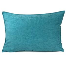 Turquoise blauw kussen ± 50x70cm