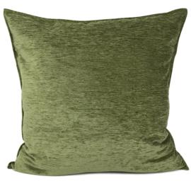 Olijf groen kussen ± 70x70cm