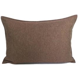Esperanza Deseo ® kussen - Linnen meubelstof met fijne lus - Brons met koraal ± 50x70cm
