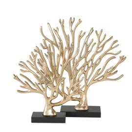 Prachtige set koraal in goudkleur  29cm en 35cm