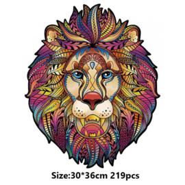 Houten puzzel - mozaïek - leeuw - 219 stukjes!