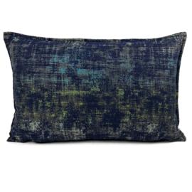 Sierkussen Industrieel donkerblauw ± 40x60cm