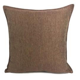 Esperanza Deseo ® kussen - Linnen meubelstof met fijne lus - Brons met koraal ± 45x45cm