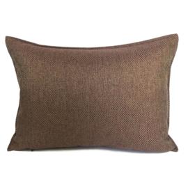 Esperanza Deseo ® kussen - Linnen meubelstof met grote lus - Brons met koraal ± 50x70cm