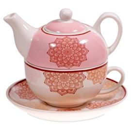 Tea for One Mandala roze