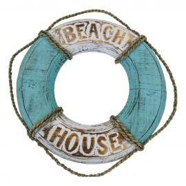 "Reddingsboei ""Beach House"" 40cm (mintgroen)"