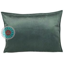 Velvet kussen Jade groen (1011) ± 50x70cm