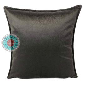 Velvet kussen Donker Taupe (1013) ± 45x45cm