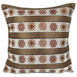 Ivoor kussen - Peru stripes ± 45x45cm