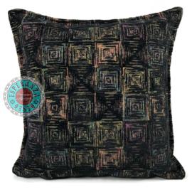 Sierkussen Exclusive Art collection black square ± 45x45cm