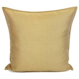 Esperanza Deseo ® kussen - Linnen meubelstof met fijne lus - Taupe met okergeel ± 60x60cm