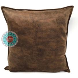 Velvet kussen mocha bruin (11004) ± 45x45cm