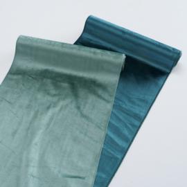 Decoratie stof (ook te gebruiken als tafelloper) velvet mint