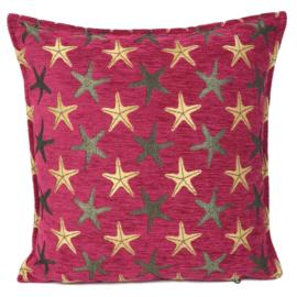 Hard roze kussen - Starfish ± 45x45cm