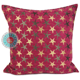 Starfish hard roze kussen ± 70x70cm