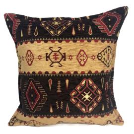 Esperanza Deseo ® kussen - Navajo, Navajo, oker en donkerbruin ± 45x45cm