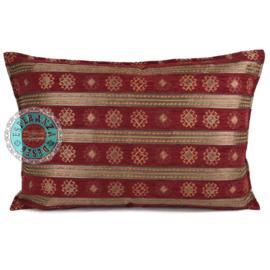 Rood kussen - Peru stripes ± 50x70cm