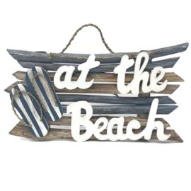 "Wand decoratie ""At the Beach"" 48x25x7cm"