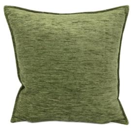 Olijf groen kussen ± 45x45cm