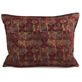 Sierkussen Exclusive Art collection burgundy square ± 50x70cm