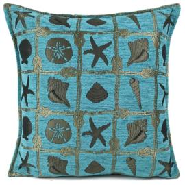 Esperanza Deseo ® kussen - Beach, turquoise ± 45x45cm