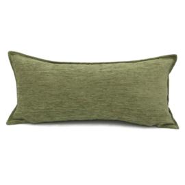 Olijf groen kussen ± 30x60cm