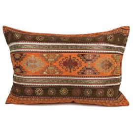 Oranje kussen - Peru ± 50x70cm