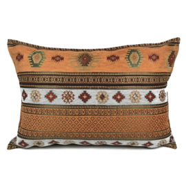 Oranje kussen - Aztec ± 50x70cm