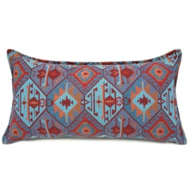 Esperanza Deseo ® kussen - Tribal, turquoise rood oranje lavendelblauw ± 30x60cm