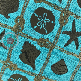 Turquoise kussen - Beach ± 45x45cm