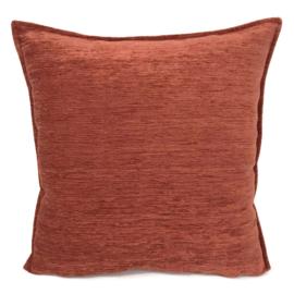 Brick oranje kussen ± 45x45cm