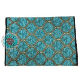 Turquoise placemat - Honingraat 49cm x 34cm