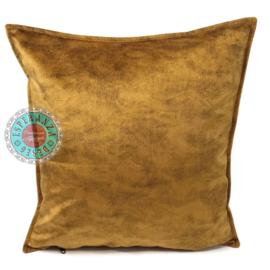 Velvet kussen oker goud (5018) ± 45x45cm