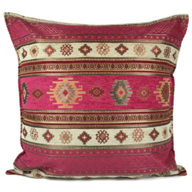 Hard roze kussen - Aztec ± 70x70cm