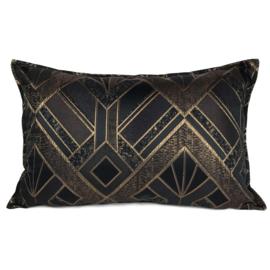 Esperanza Deseo ® kussen - Luxery zwart met goud ± 40x60cm