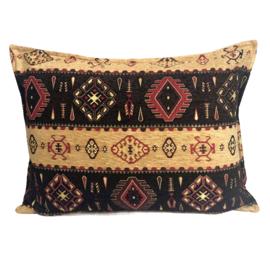 Esperanza Deseo ® kussen - Navajo, oker en donkerbruin ± 50x70cm