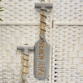 Peddel met tekst BEACH LIFE  50x11cm