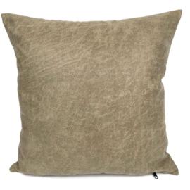 Leatherlook kussen in de kleur walnoot ± 45x45cm