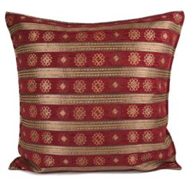 Rood kussen - Peru stripes ± 70x70cm