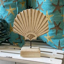 Houten schelp 18cm hoog
