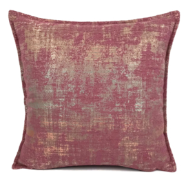 Sierkussen Industrieel roze ± 40x40cm