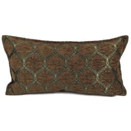 Bruin kussen - Honingraat ± 30x60cm
