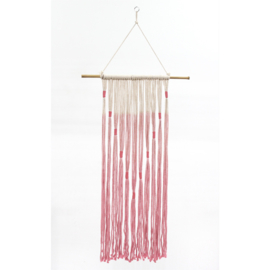 Roze wanddecoratie 95x40x2 cm (Fairtrade)