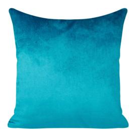 Donker turquoise - licht petrol kussenhoes 40x40cm