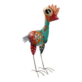 Metalen emu met ruimte voor waxinelichtje ♥ 34x20x11cm