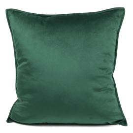 Groen velvet kussen passend bij veren/bladeren kussen ± 45x45cm