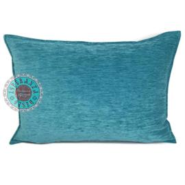 Turquoise kussen ± 50x70cm